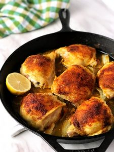 Easy One-Pan Baked Chicken Thighs