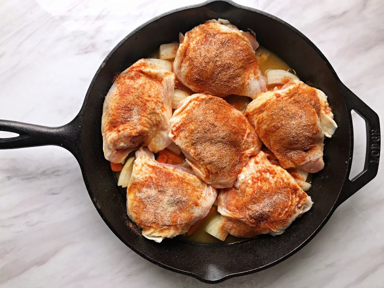 Easy Baked Chicken pre-baking