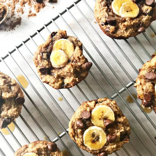 Gooey Chocolate Chip Banana Bread Muffins Lulu S Table
